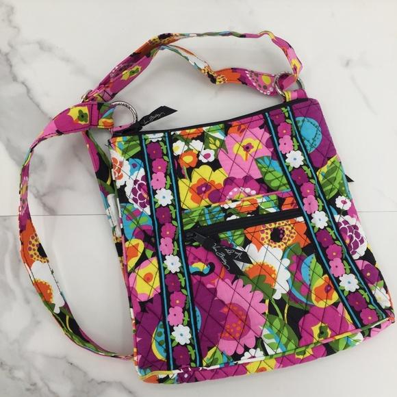 Vera Bradley Handbags - NWOT Vera Bradley cross multicolored floral cloth